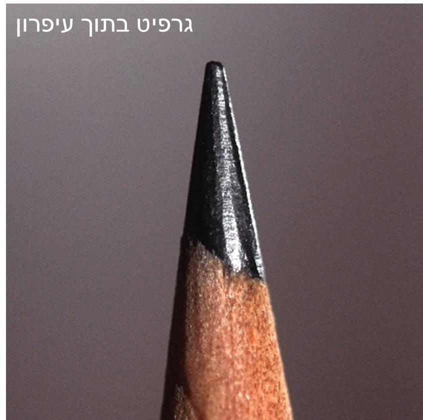 גרפיט בתוך עיפרון